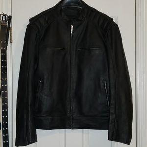 Men's lined leather jacket